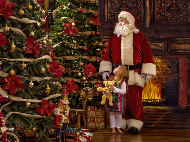 Children's Portraits with Santa Claus, Ohio Valley