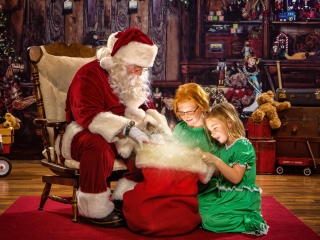 Children Pictures with Santa Claus WV