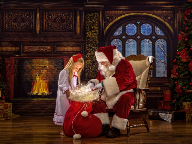 Christmas Portraits with Santa Claus WV