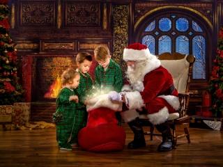 Magical Santa Claus Pictures, Wheeling WV
