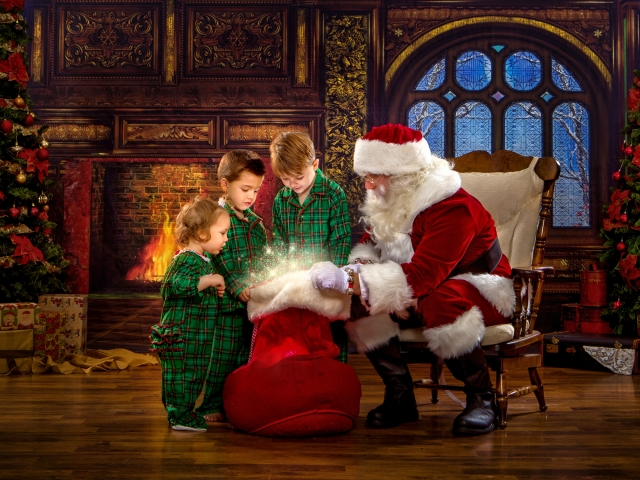 Magical Santa Claus Pictures, Wheeling WV