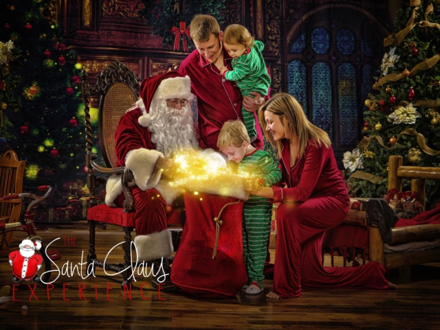 Family Portrait with Santa Claus WV